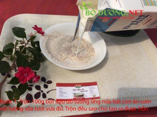 tắm trắng bột đậu đỏ - bước 1